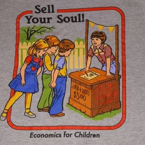 Sell Your Soul Satan Economics for Children Shirt